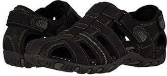 Nunn Bush Rio Bravo Fisherman Sandal (Black) Men's Sandals