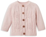 Elegant Baby Baby Girl's Leaf Cable Cardigan