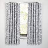 "Go Lightly Grey Floral 63"" Blackout Curtain"