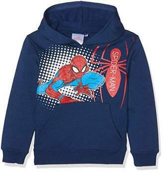 Marvel Boy's Spiderman Hoodie, (Blue 19-4026TC), (Size:8Y)