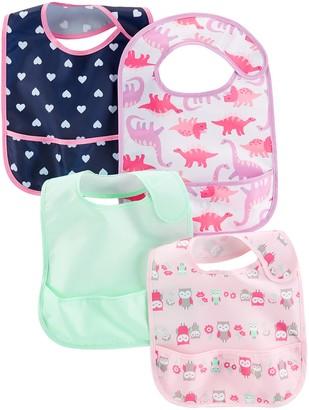Simple Joys by Carter's Baby Girls' 4-Pack Feeder Bibs