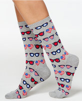 Hot Sox Women's Red, White and Blue Sunglasses Socks