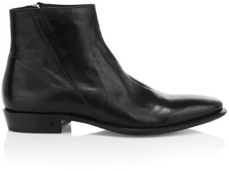 John Varvatos Lewis Slant Zip Leather Boots