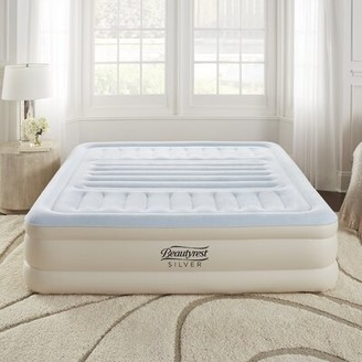"Simmons Lumbar Supreme Adjustable Comfort Raised Express 18"" Air Mattress with Built in Pump"