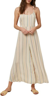O'Neill Juls Stripe Wide Leg Crop Jumpsuit