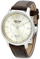 Sector Men's 42mm Brown Leather Band Steel Case Quartz Watch R3251593002