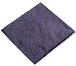 Ryan Seacrest Distinction Men's Solid Paisley Silk Pocket Square, Created for Macy's