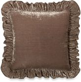 Wamsutta Mills Vintage Washed Velvet Square Throw Pillow