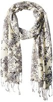 Big Buddha Women's Poppy Love Floral Year-Round Scarf with Fringe