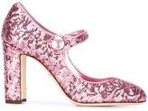Dolce & Gabbana Vally pumps - women - Goat Skin/Lamb Skin/Leather/Sequin - 38