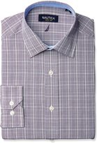 Nautica Men's /Navy Glen Plaid - Spread Collar - Classic Fit