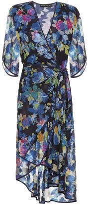 Etro Floral silk-blend midi wrap dress