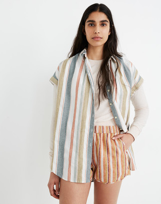 Madewell Central Tunic Shirt in Gillman Stripe