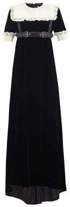 Gucci Harness-belt Velvet Gown - Black