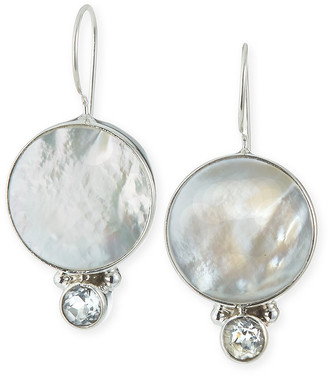 Dina Mackney Topaz and Mother-of-Pearl Drop Earrings