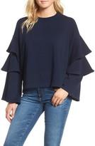 AG Jeans Women's Pearl Ruffle Sweatshirt