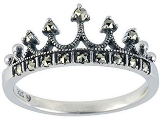 Esse Marcasite Sterling Silver Princess Charlotte Tiara Ring - Size M