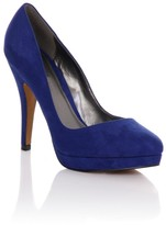 Little Mistress Footwear Paper Dolls Footwear Blue Classic Stiletto Court Shoes
