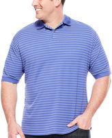 Claiborne Short-Sleeve Performance Striped Polo - Big & Tall