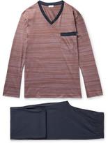 Zimmerli Cotton-jersey Pyjama Set - Midnight blue
