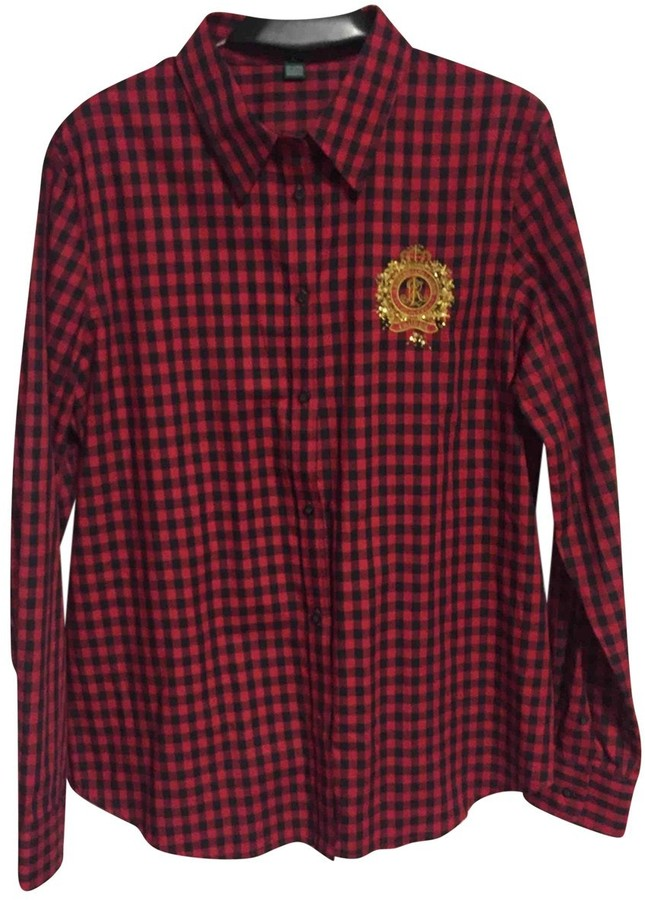 Lauren Ralph Lauren Red Cotton Top for Women