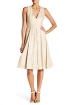 Alice + Olivia Mindee Midi Fit & Flare Dress