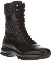 Hogan quilted lace-up boot