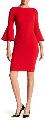 Calvin Klein Ruffle Sleeve Dress