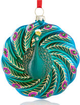 Holiday Lane Peacock Disc Ornament