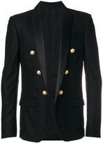 Balmain button-embellished blazer - men - Silk/Cotton/Polyamide/Wool - 48