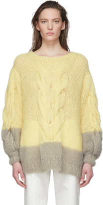 Loewe Yellow and Grey Oversize Sweater