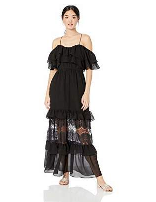 BB Dakota Junior's Wish Chiffon a Star Textured Maxi Dress