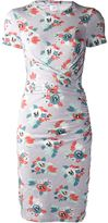 Carven jersey floral fitted dress