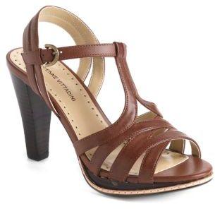 Adrienne Vittadini Atlas Leather Platform Sandals