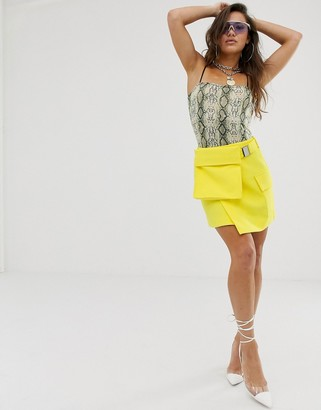 Asos DESIGN utility skirt with bum bag detail