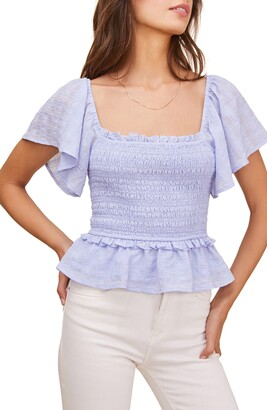 ASTR the Label January Smocked Top