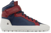 Etoile Isabel Marant Bessy Two-Tone Suede-Trimmed Leather High-Top Sneakers