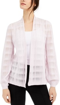 Alfani Petite Illusion Plaid Cardigan, Created for Macy's