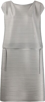 Pleats Please Issey Miyake Micro-Pleated Flared Dress