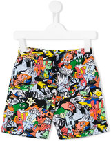 Kenzo cartoon print shorts - kids - Cotton - 4 yrs