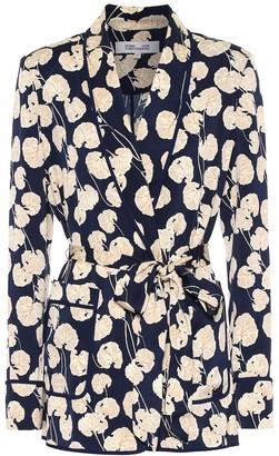 Diane von Furstenberg Braelyn silk-blend cady jacket