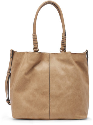 Sole Society Women's Kofi Tote Vegan Leather Mushroom Faux Leather From