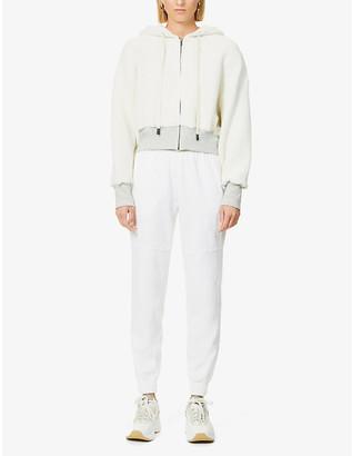 Bassike Oversized cropped cotton-jersey hoody