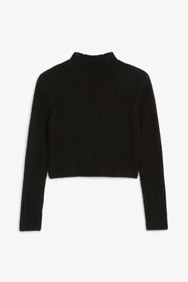 Monki Ribbed knit top