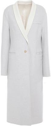 Joseph Dina Two-tone Melange Wool-felt Coat