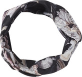 Scunci Headbands of Hope Black Multi Floral Print Styled Headwrap