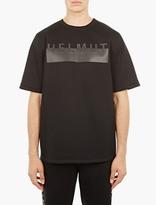 Helmut Lang Black Neoprene Logo Sweatshirt