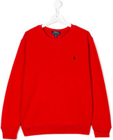 Ralph Lauren long-sleeved sweatshirt - kids - Cotton/Polyester - 14 yrs