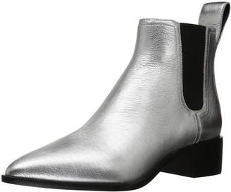 Loeffler Randall Women's Nellie (Metallic Leather) Chelsea Boot Silver 8 B US