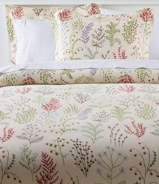 L.L. Bean Ultrasoft Comfort Flannel Comforter Cover Collection, Botanical Floral